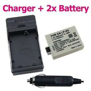 Battery + Battery Charger FOR CANON CAMERA EOS Digital Rebel T1i / EOS