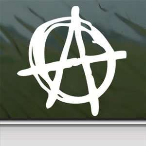 ANARCHY SYMBOL White Sticker PUNK Car Vinyl Window Laptop