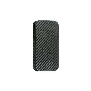 4S / IPHONE® 4 COMPATIBLE / HD FABRIC CRYSTAL CASE BLACK CARBON FIBER