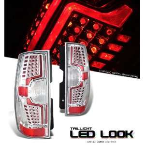 Gmc 2007 2008 Yukon Denali Suv Chrome Taillight Led Look