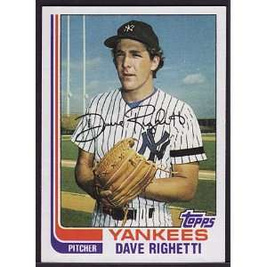 Dave Righetti 1982 Topps Baseball Rookie (San Francisco
