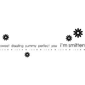 Penny Black Wood Mounted Rubber Stamp Smitten