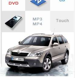 Car DVD GPS Navi Headunit Autoradio For Skoda Octavia Free Camera TV