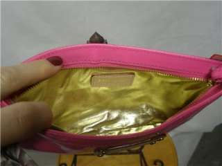 Kate Spade pink patent Leather Chrissy zippered Clutch Wristlet