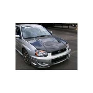 Carbon Fiber Racing Style Hood For 04   05 Subaru WRX Automotive