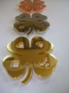 Set of Lucky Four Leaf Clovers Poker Weight Card Guard