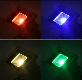 New 10W RGB Color Waterproof 9 LEDs Outdoor FloodLight remote control