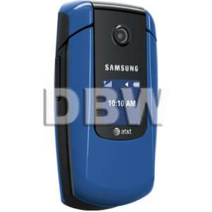BOX SAMSUNG SGH A167 BLUE AT&T LOCKED CELL PHONE 635753476989