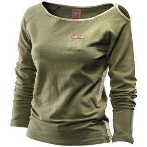 Thor Motocross Womens Bambi Long Sleeve Knit Shirt   Large/Olive
