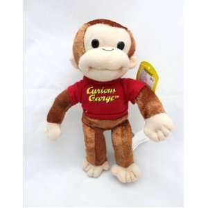 Licensed Curious George 9 Mini Plush Doll FIgure   RED