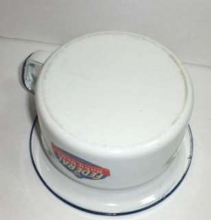 CHILDS OLD FEDERAL BABY DEAR BLUE & WHITE GRANITEWARE POTTY W
