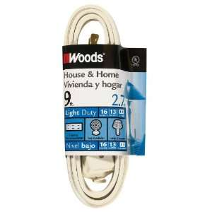 Woods 0601W 9 Foot Cube Extension Cord with Power Tap