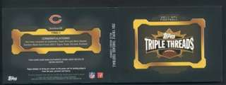 2011 Topps Triple Threads Devin Hester Booklet 14/27 Game Used Jersey