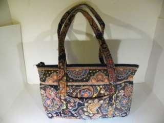 Retired Vera Bradley Kensington Bag Purse Tote Handbag Nice 9 x 14 x 4