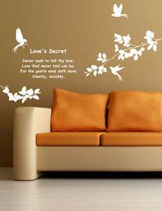 Love Birds & Tree DIY Wall Decor Vinyl Decal Stickers