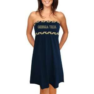 Georgia Tech Yellow Jackets Ladies Navy Blue Braided Dream