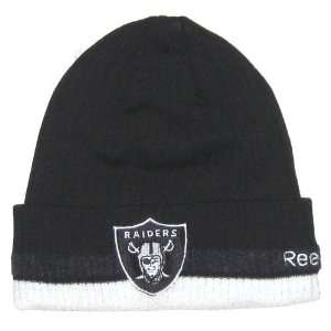 Oakland Raiders NFL Reebok Onfield Authentic Apparel Striped Cuffed