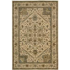 Living Treasures Collection Traditional Beige Wool Rug 5