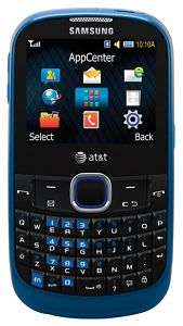 New Samsung A187 Unlocked GSM QuadBand Phone AT&T Blue QWERTY Camera