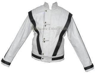 Michael Jackson THRILLER White Faux Stylish Leather Jacket   All Sizes