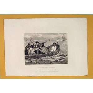 Industrial Prentice Sea Boat Hogarth Art C1835