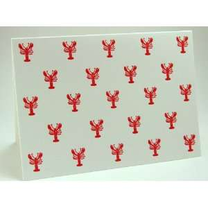 carrot & stick press red lobsters letterpress note card