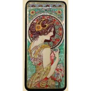 Russian Lacquer Box (#3263) Art Nouveau Style after painting of MUCHA