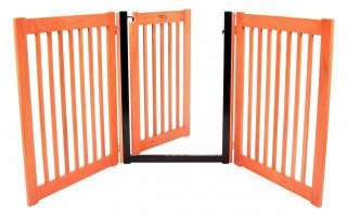 Wood Walk thru door DOG GATE expand to 5 ft wide fence zig zag indoor