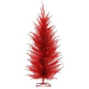 Christmas Lite Co. 6008 40r 4 ft. Pre Lit Red Vogue Tinsel