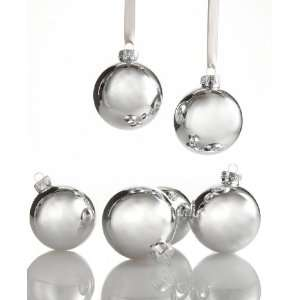 Kurt Adler Christmas Ornaments, Set of Shiny 6 Glass Balls