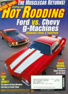 2003 Popular Hot Rodding Chevy/Ford Red Muscle Cars