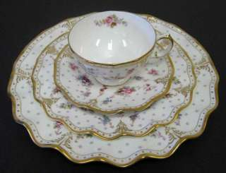 NEW ROYAL CROWN DERBY ANTOINETTE 4 PIECE PLACE SETTING