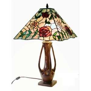 Rose Mission Style Table Lamp