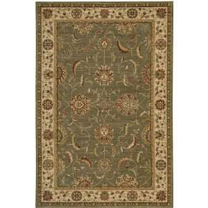 Living Treasures Collection Traditional Green Wool Rug 7.90.