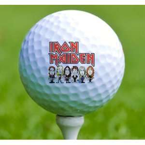 3 x Rock n Roll Golf Balls Iron Maiden Musical