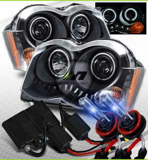 08 10 Jeep Grand Cherokee BLK CCFL Halo Projector Headlights/10000K