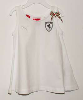 NEW PUMA FERRARI GIRLS FASHION TOP WHITE
