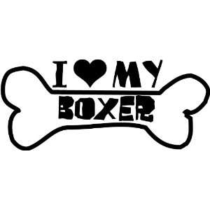 I Heart My Boxer Car Decal Window Sticker