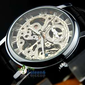 NEW Mechanical Leather Hollow Men Luxury Fashion Wrist Watches 2
