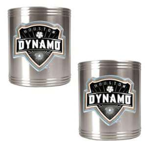 Houston Dynamo MLS 2pc Stainless Steel Can Holder Set   Primary Team