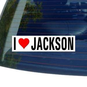 Love Heart JACKSON   Mississippi Window Bumper Sticker Automotive