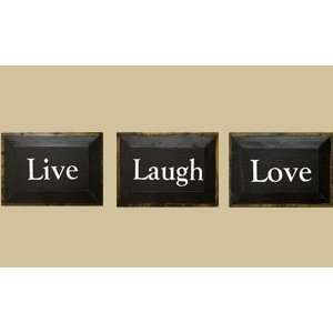 SaltBox Gifts T710LLL 7 in. x 10 in. Live Love Laugh Sign