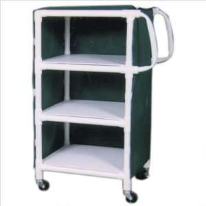 MJM International 325/350 24 KIT Linen Cart with Cover and Optional