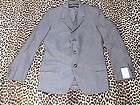 LONDON MOD 1960s GRAY GABARDINE MEN 3 BUTTONS FITTED SUIT   NEW/OLD