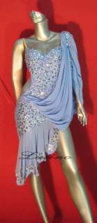 LATIN SALSA(BALLROOM) COMPETITION DRESS SIZE L (VL29)
