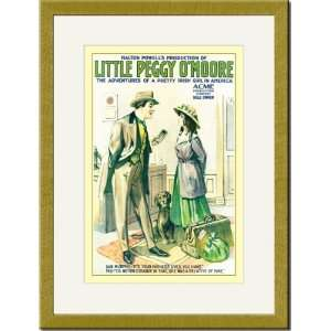 Gold Framed/Matted Print 17x23, Little Peggy OMoore