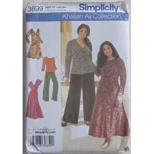 SIMPLICITY PATTERN 3699 WOMENS KNIT TOPS, DRESS, SKIRT AND PANTS SIZE