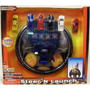 SteerN Launch Ford Die Cast Car Racing Steering Wheel Toys & Games