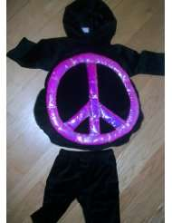 Peace Love, 2 Pc, Girl Halloween Dress up Costume, Size Baby Toddler 6