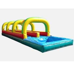 Dual Lane Slide and Splash with Pool (Commercial Grade) Toys & Games